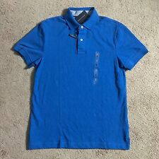 TOMMY HILFIGER Mens Custom Fit Blue Polo Shirt 7855269 465 (Small) NWT $49.50