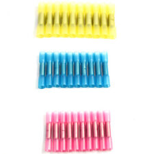 100X Heat Shrink 22-10AWG Auto Butt Electrical Wire Crimp Terminal Connector Kit