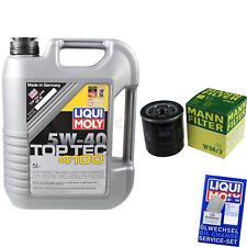 LIQUI MOLY 5L 5W-40 Motor-Öl+MANN-FILTER für ToyotaLiteace Kasten _R2__V 1.5