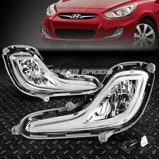For 12-17 Accent Clear Lens Bumper Driving Fog Light Replacement Lamps W/Switch (Fits: Hyundai Accent)