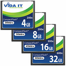 New Vida IT CF Compact Flash Memory Card High Speed For Digital SLR Camera UK