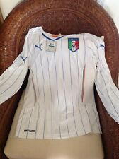 Puma Italia Long Sleeves White Soccer/futbol Jersey/shirt New With Tags Sz L Men