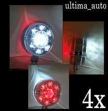 2 pares 24v LED Cromo Rojo Blanco Intermitente Lateral Luces Para Scania Daf