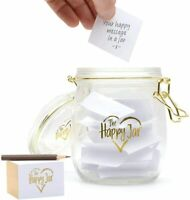 Glass Happy Jar For Memories Wishes Memory Keepsake Birthday Christmas Gift UK