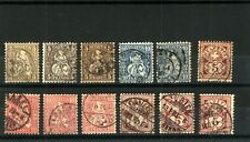 Switzerland 1862/82 Range of Issues to Include Sitting & Standing Helveti Stamps