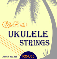 4 Ukulele Saiten Set Nylon - Stärken: 022, 028, 032, 022 - Saiten - The Rose