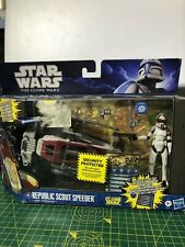 Star Wars The Clone Wars Republic Scout Speeder +ARF Trooper