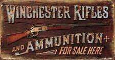 Winchester Rifles And Ammunition Novelty TIN SIGN Metal Vintage Gun Poster