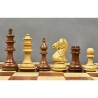 """4.2"""" Supreme Luxury Sheesham Wood Weighted Chess Pieces set - Extra Queens"""