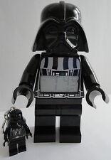 LEGO Star Wars Darth Vader Figure Alarm Clock Lighted LCD Display & Key Chain