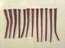 "Antique Wrought Iron Nails/Spikes 6"" to 7"" Lot of 3 Dozen"