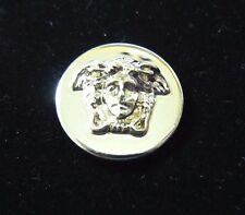 """GIANNI VERSACE MEDUSA HEAD GOLD METAL BUTTON Approximately .8"""" / 20MM"""
