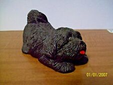 CUDDLY DOG STATUE -PLASTER - HAND FINISHED BY ME