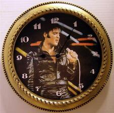"ELVIS PRESLEY 12"" WALL CLOCK - ""BLACK LEATHER"" - NEW IN BOX"