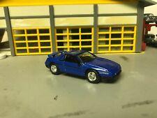 1/64 1984 Pontiac Fiero GT /Met Blue/Blk Int/V6 Auto/Rubber Tires/Factory Alloys