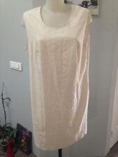 KIABI  robe debardeur Taille 48 lin viscose beige doublée