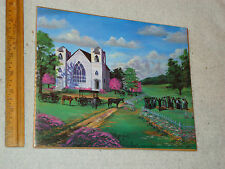 NEW NICE Negro Funeral Religious Church Art Print in Plastic, Horse Buggy, Grave
