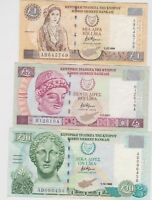 THREE CYPRUS BANKNOTES 1998 TO 2001 IN GOOD VERY FINE OR BETTER CONDITION