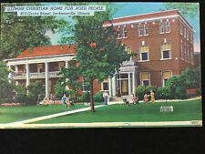 1958 Illinois Christian Home for Aged People, Jacksonville, IL postcard