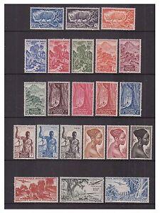 French Eq. Africa - SG 235/56 - v.l.m - 1947/52 - 10c - 200f