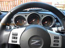 Fits Nissan 350Z 2003-2009 Chrome Dial Rings Gauge Surrounds Polished Aluminium