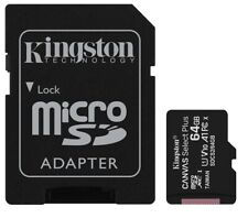 Kingston 64GB 64G microSDXC Canvas Select Plus 100MB microSD SD UHS-I U1 V10 A1