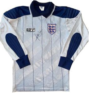 Signed Peter Shilton England Umbro Mexico 86 Goalkeeper Shirt Very Rare