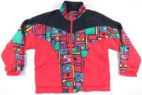 Vintage 80s 90s Multicolor Abstract Geometric Pop Art Nylon Windbreaker Jacket S