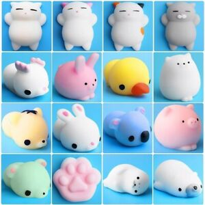 Cute Animal Squish Toy Mochi Rising Antistress Ball Squeeze Abreact Soft Stick B