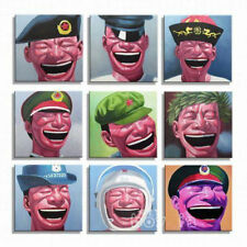 portraits oil Painting Chinese on canvas by Yue Minjun Laughing series(framed)