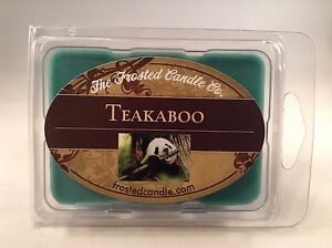 Teakaboo 2.5 oz Wax Melts Scent One Package Bamboo Teak Wood The Frosted Candle