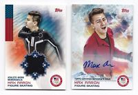 2014 Topps USA Olympic Team Autograph + Relic Max Aaron Figure Skating #1