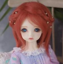 "New 5""-6"" 14cm BJD fabric fur wig Orange for AE PukiFee lati 1/12 Doll Antiskid"