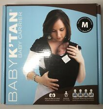 Baby K'Tan Original Baby Carrier Medium Basic Black Multiple Wearing Positions