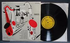 "Various Tenor Saxes 12"" Mono Jazz NORGRAN MGN-1034 Webster Getz Young Jacquet"