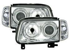 2 PHARE ANGEL EYES VW POLO 6N2 1999-2001 1.4 16S 1.6 16S GTi FEUX AVANT CHROME