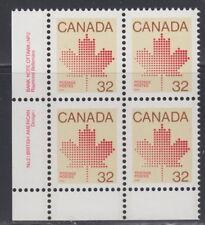 CANADA #924i 32¢ Maple Leaf LL Plate Block #2 Harrison Paper MNH