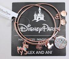 NEW Disney Parks ALEX AND ANI Fantasyland Carrousel Horse Rose Gold Bracelet Set