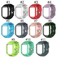 Silicone Watchband Frame Sportswear Replacement for Sport Runner 2/Spark/Spark 3