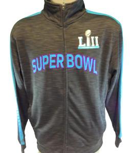 Mens Majestic Super Bowl LII NFL Football Eagles Full Zip Up Track Style Jacket