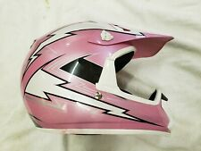 HJC CL-X5N Pink/White Motorcycle Dirt Bike Helmet Motocross Off Road Size Y-Med