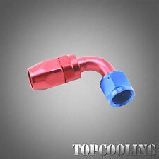 AN10 90 Degree Swivel Hose End Fitting Adapter Red Aluminum