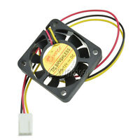 10PCS 12V 3Pin 40mm 4cm DC Brushless Computer Cooler Cooling Fan PC 40X40X10MM
