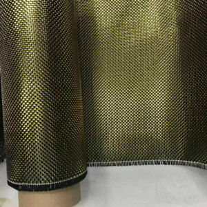 Metallic Carbon fiber & Thick Gold + Thin Silver reflection mixed fabric cloth