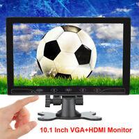 "10.1"" LCD CCTV Monitor PC Screen AV/RCA/VGA/HDMI 1080P for DSLR Raspberry Pi 3B+"