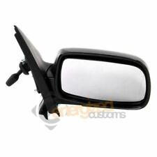 Toyota Yaris 5/2003-2005 Cable Adjust Wing Door Mirror Black Cover Drivers Side