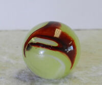 #12816m Vintage Akro Agate Lemonade Oxblood Marble .70 Inches