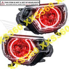 ORACLE Headlight HALO KIT RINGS for Toyota Tacoma 12-15 RED LED Angel Eyes