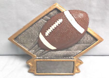 Football trophy resin diamond plaque small size Jds Dps65