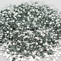 1000 Rhinestones Crystal Clear Flat Back Acrylic 1.5mm Diamond Decoraction Nails